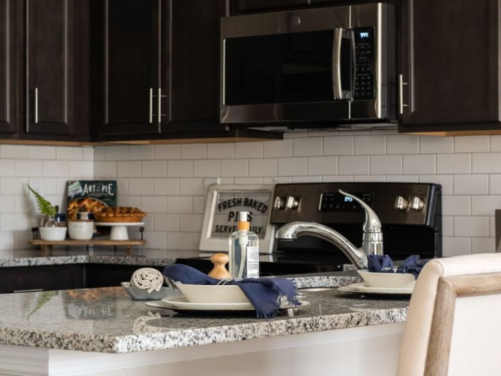 Granite countertop in a home at Randall Residence of Centerville in Centerville, Ohio