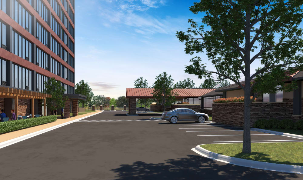 Rendering of exterior of St. Anthony's Senior Living