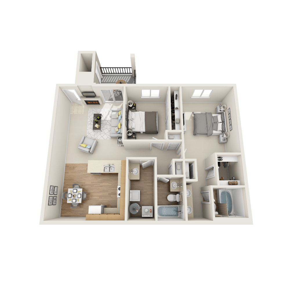 Ethan floor plan at Vistas at Stony Creek Apartments