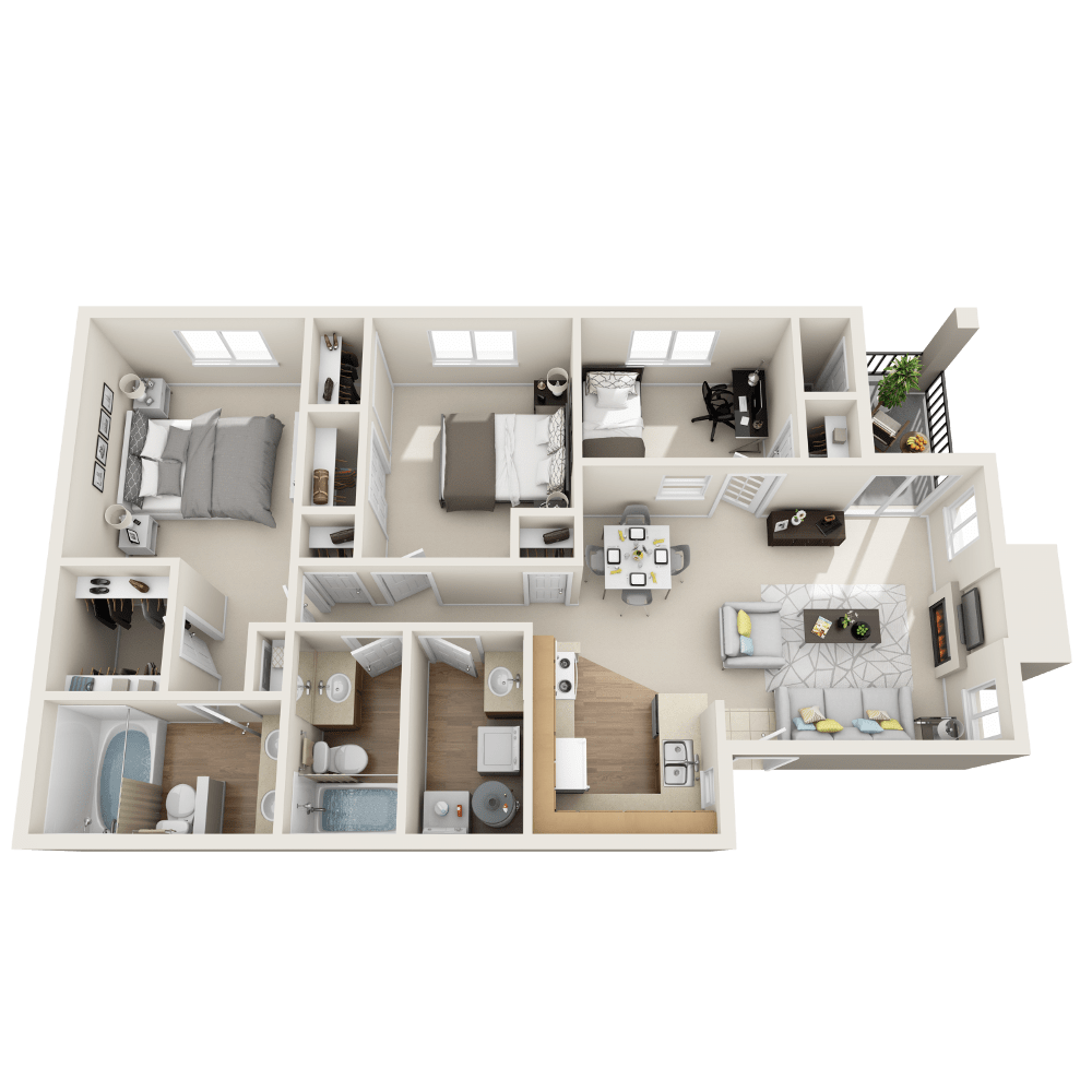 Fremont floor plan at Vistas at Stony Creek Apartments
