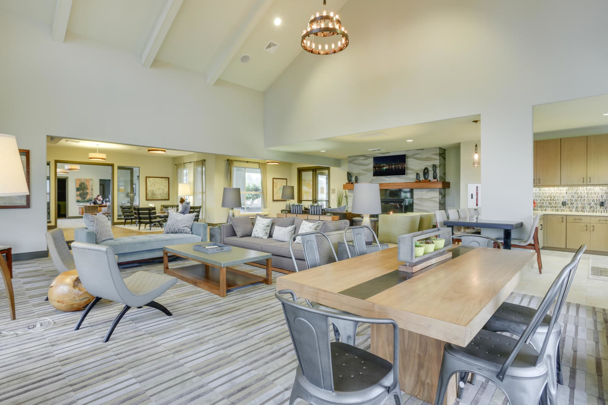 The community clubhouse at Terrene at the Grove in Wilsonville, Oregon