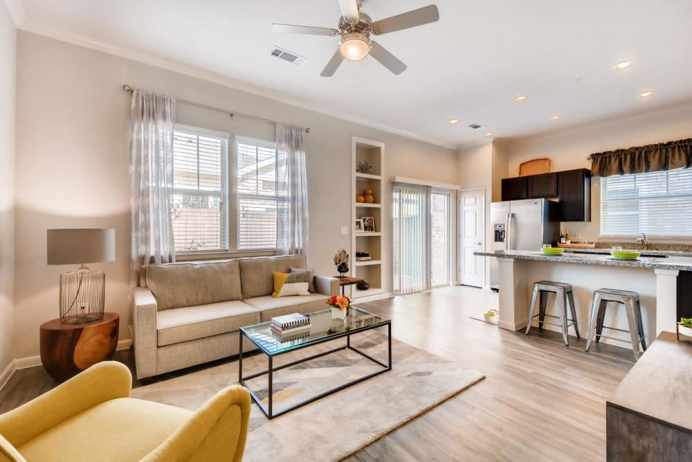 Living area at Avilla Northside