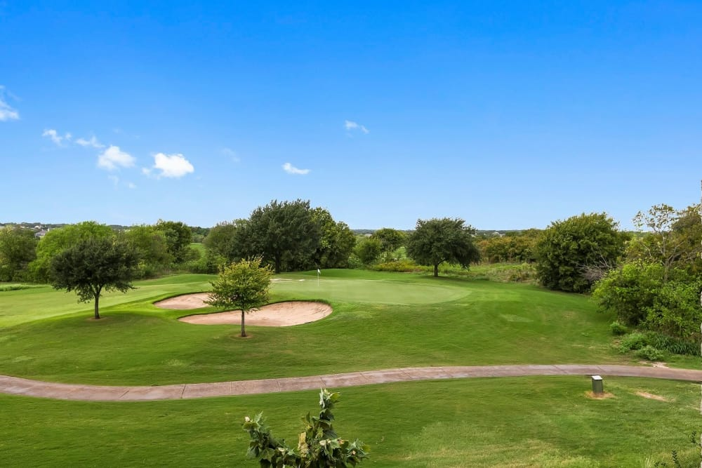 Gorgeous golf course near Plum Creek Vue in Kyle, Texas