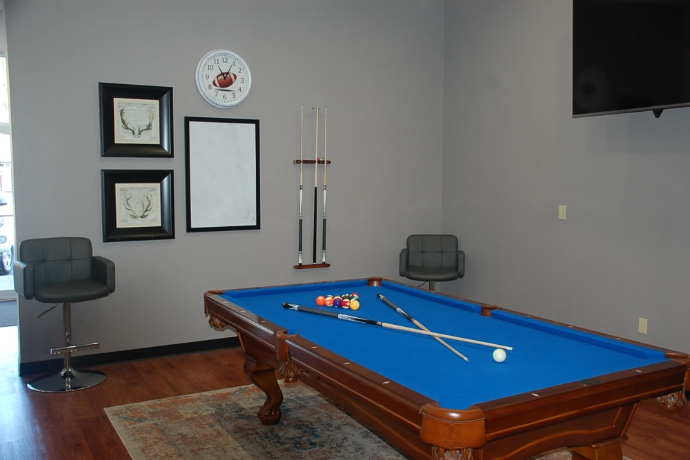 Pool table available at Pikeville Commons Apartments in Pikeville, Kentucky