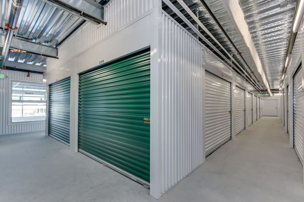 Hallway at Happy Boxes Self Storage in Richmond. Virginia