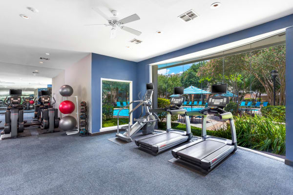 Fitness center at The Lodge at Shavano Park