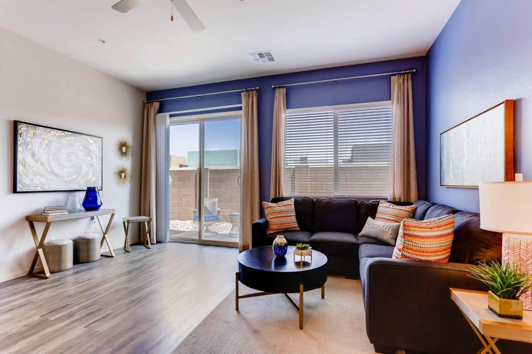 Spacious living room at Avilla Camelback Ranch in Phoenix, Arizona