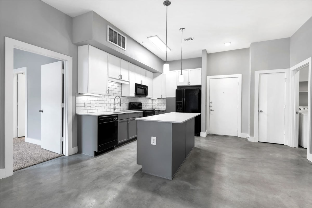 High end kitchen at lResidences at The Trianglein Austin, Texas