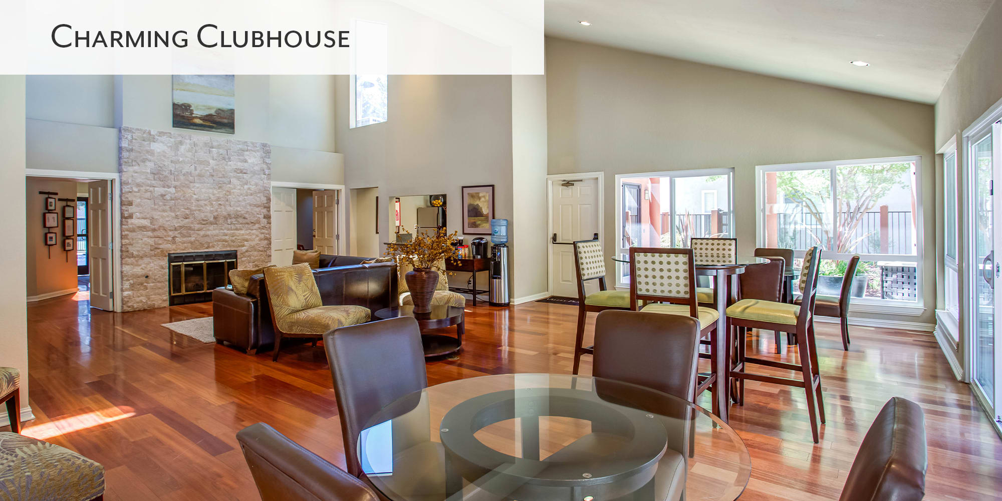 Charming clubhouse at Valley Plaza Villages in Pleasanton, California