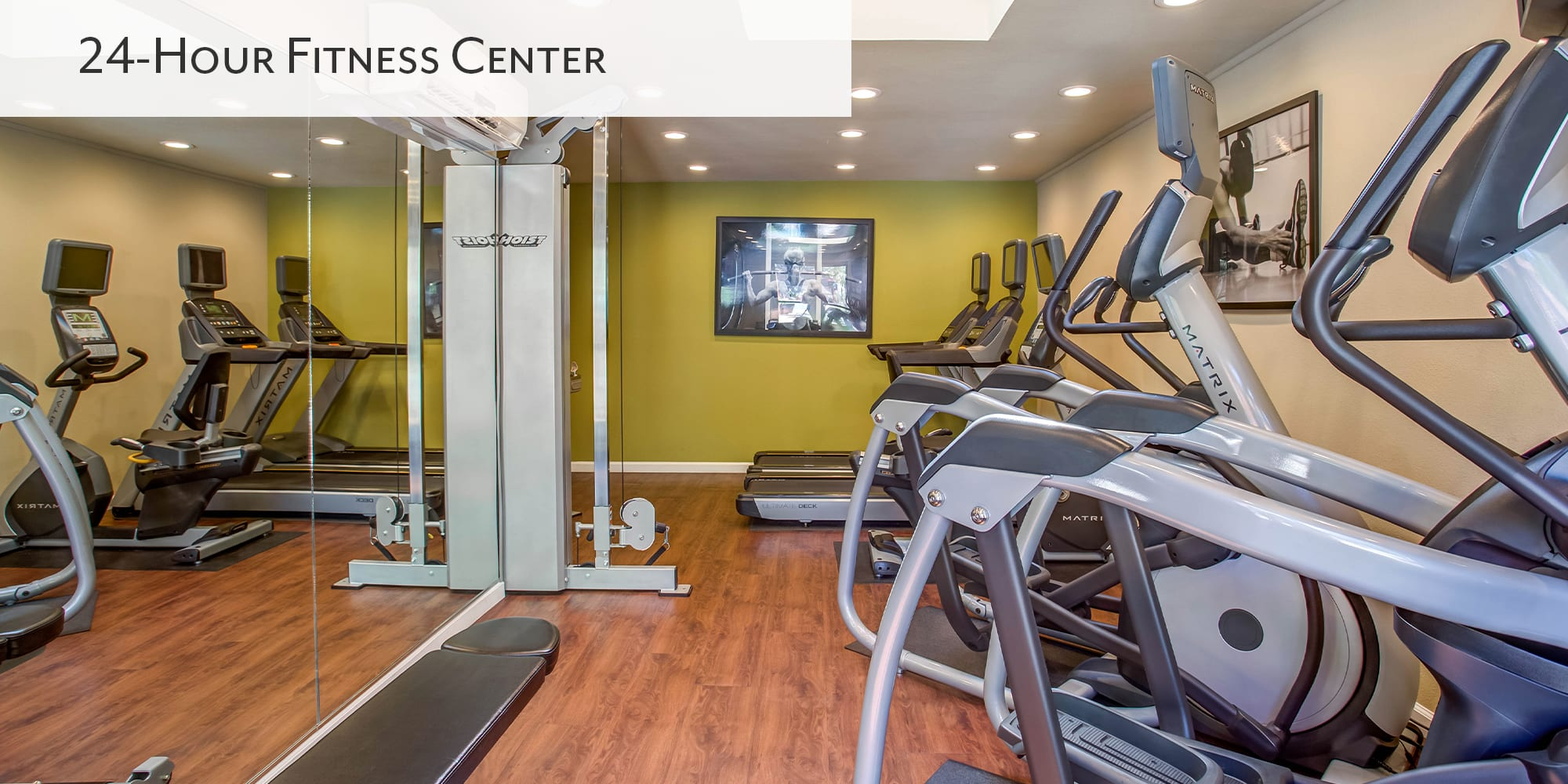 24-hour fitness center at Valley Plaza Villages in Pleasanton, California