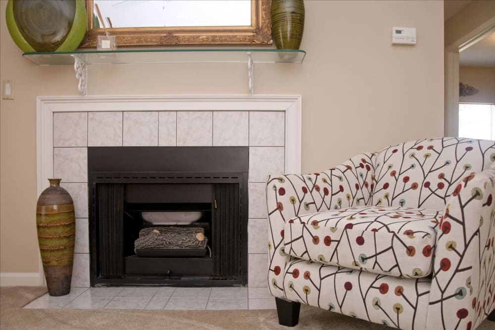 Enclave at Wolfchase in Cordova, Tennessee offers apartments with a fireplace