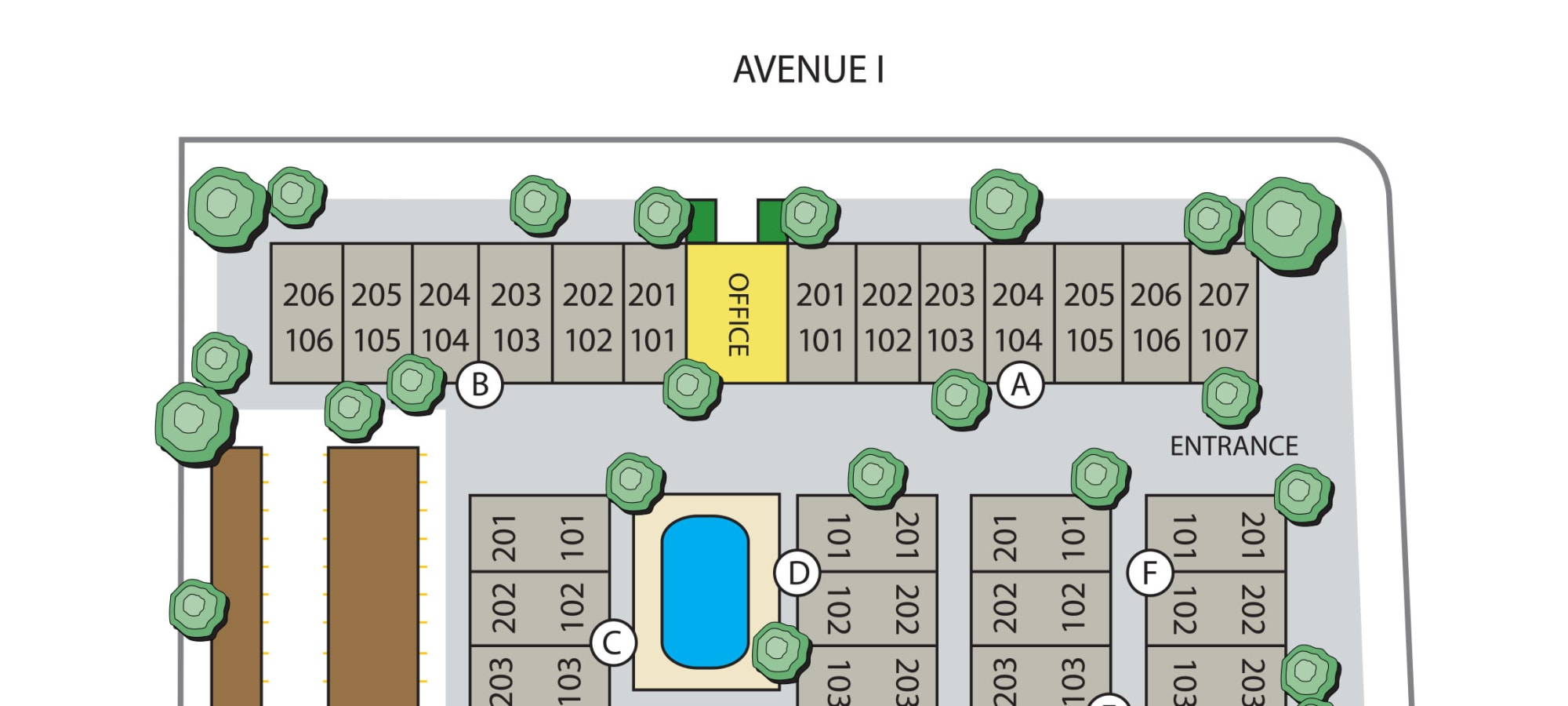 Site plan for Parkwood in Lancaster, California