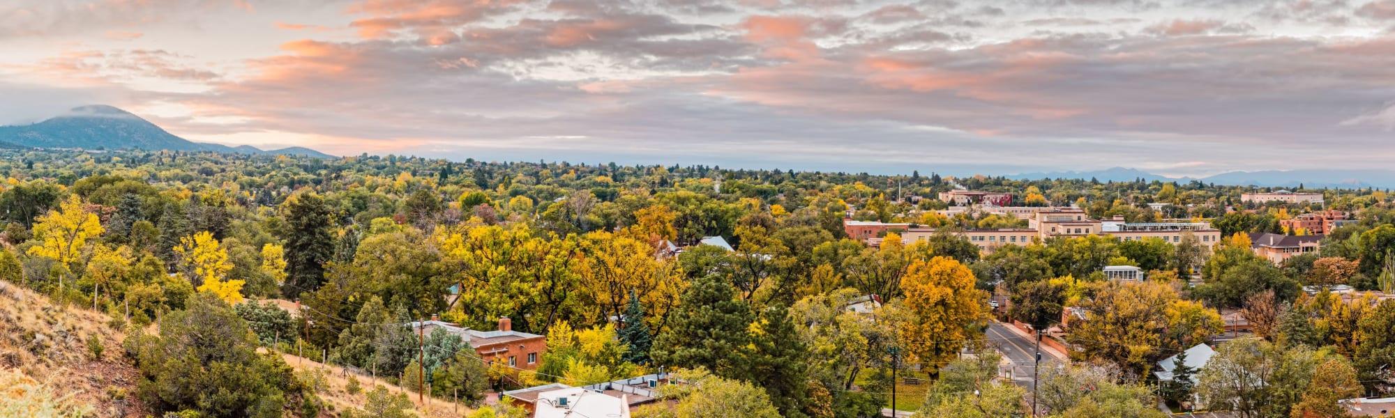 Neighborhood of Capitol Flats in Santa Fe, New Mexico