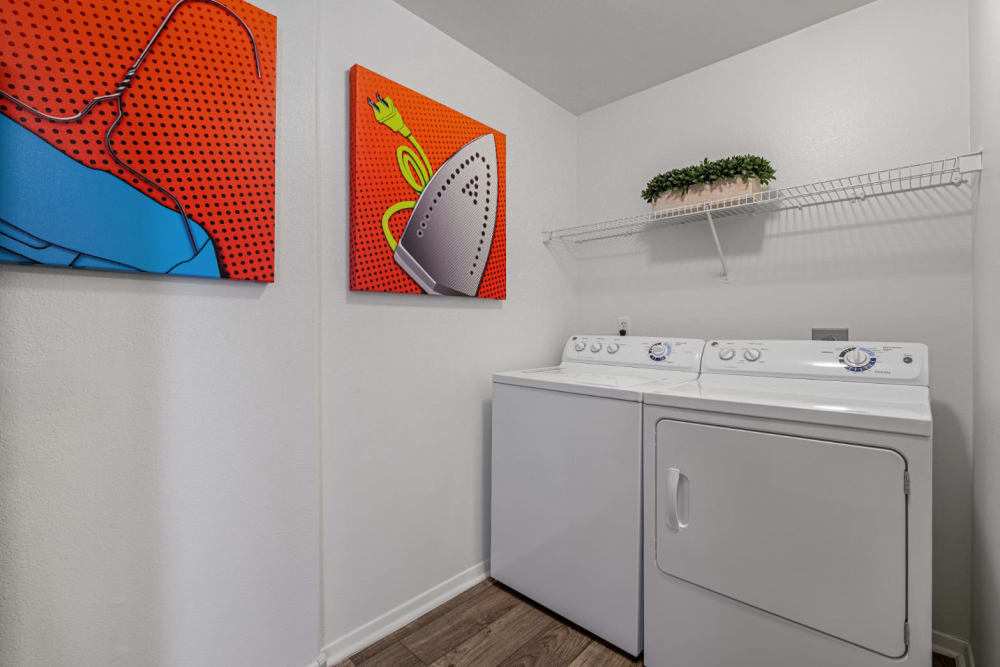 Full size washer and dryer at Alante at the Islands in Chandler, Arizona