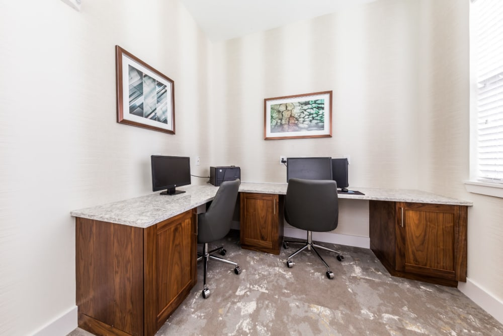 Business center at Marquis at Cinco Ranch in Katy, Texas