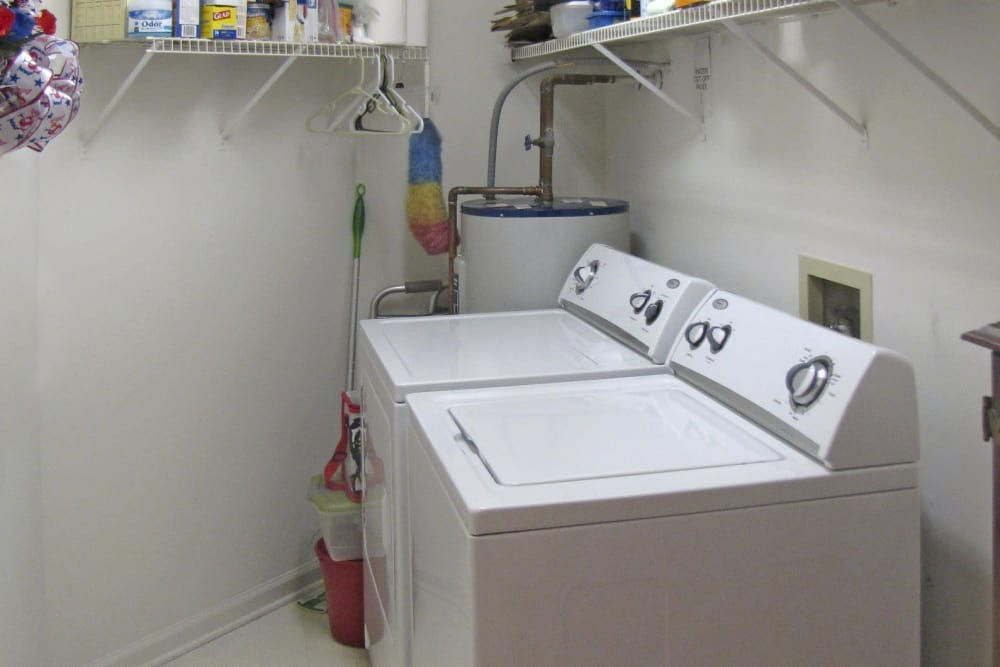 Washer and dryer at Crescent Oaks in Graham, North Carolina