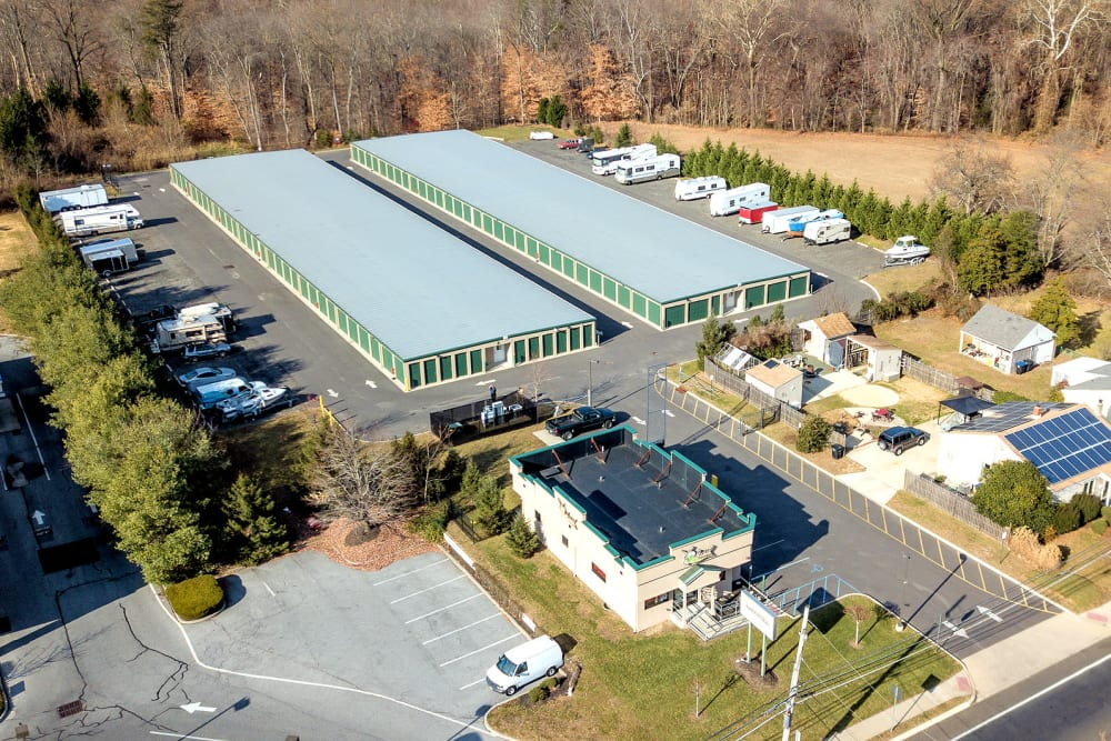 Aerial view of A Space Place Self Storage in Medford, New York