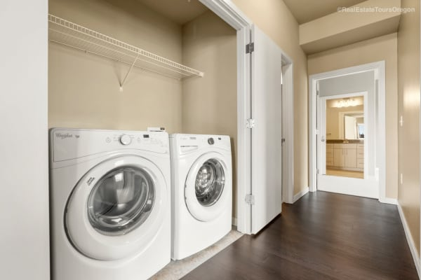 Laundry units at South Block Apartments in Salem, Oregon