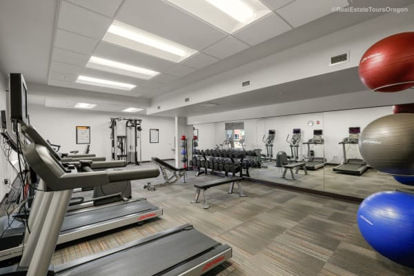 Fitness room at South Block Apartments in Salem, Oregon