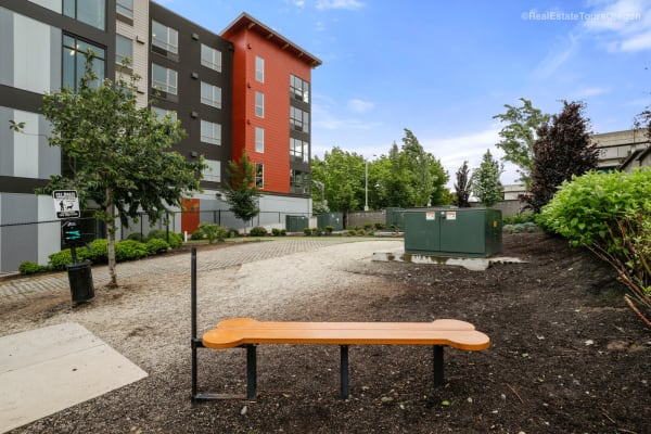 The dog park at South Block Apartments in Salem, Oregon