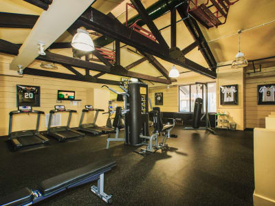 Studio West offers a spacious fitness center in Boone, North Carolina