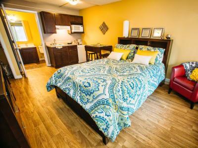 Bedroom at Studio West in Boone, North Carolina
