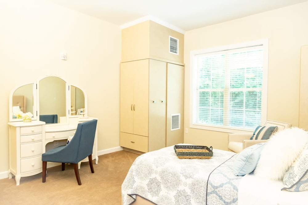 The Legacy at English Station offers a beautiful bedroom in Louisville, Kentucky