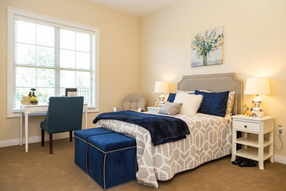 Naturally well lit bedroom at The Legacy at Liberty Ridge in West Chester, Ohio