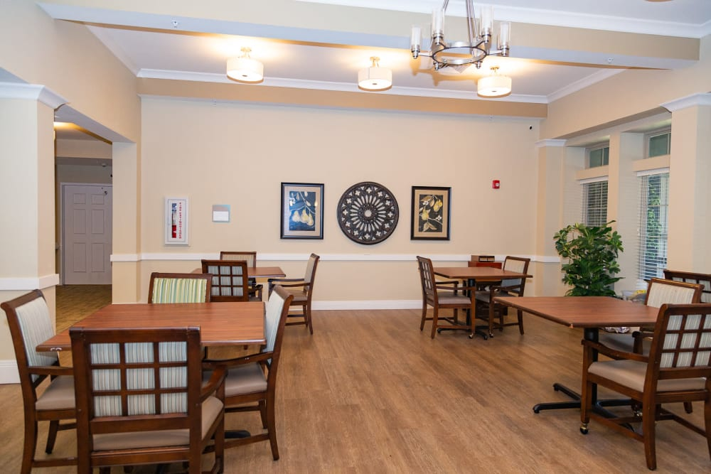 Dining room at The Legacy at Liberty Ridge in West Chester, Ohio