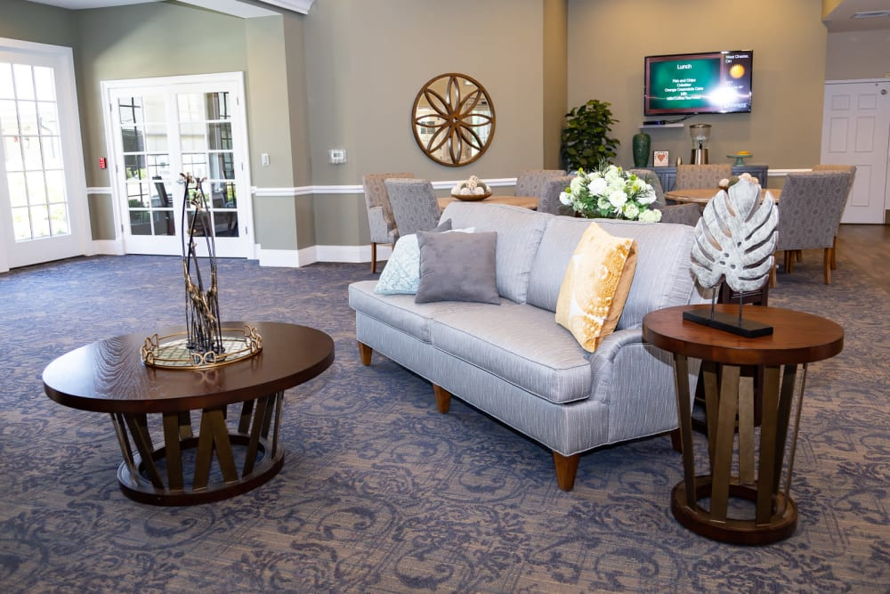Lounge room at The Legacy at Liberty Ridge in West Chester, Ohio