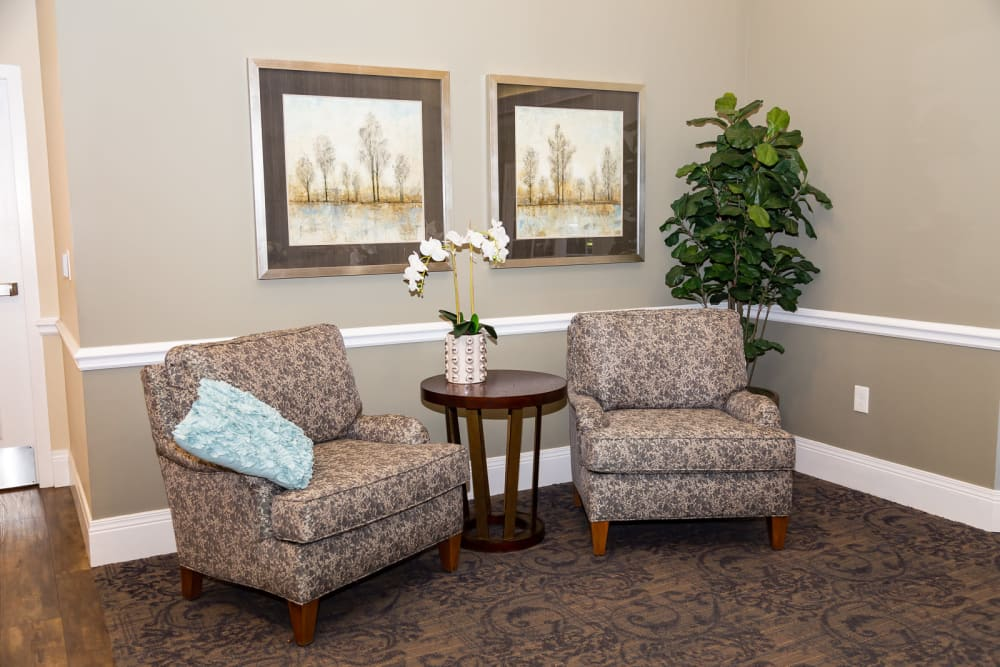 Seating area at The Legacy at Liberty Ridge in West Chester, Ohio
