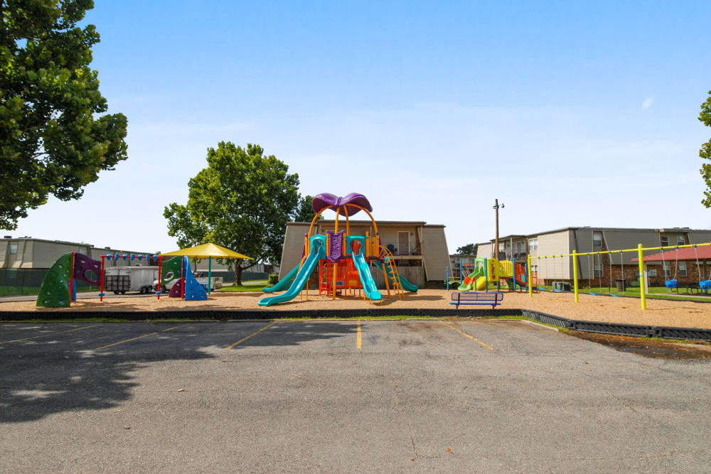 Summerfield Apartment Homes offers a playground in Harvey, Louisiana