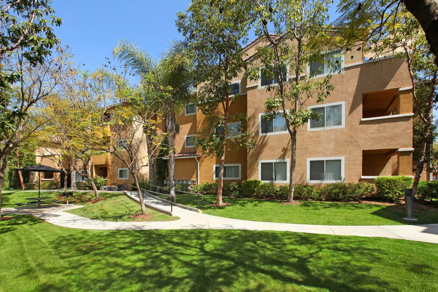Grounds at Madrid Apartments in Mission Viejo, California