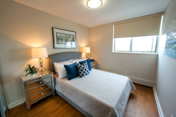 Beautiful bedroom at Richmond Hill Apartments in Richmond Hill, Ontario