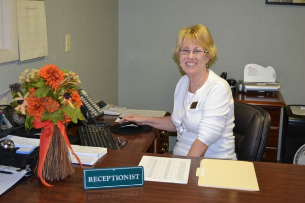 The receptionist at Copper Heights in Mesa, Arizona