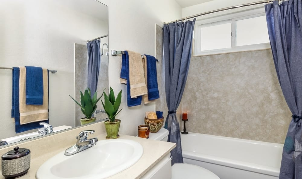 Example bathroom at apartments in Tarzana