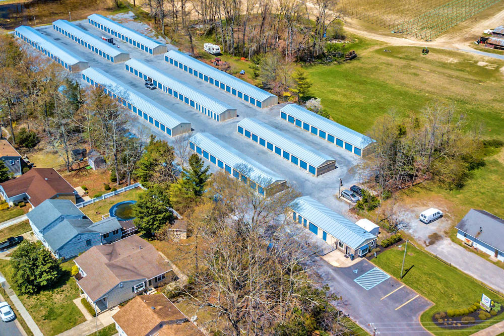 Aerial view of A Safe Keeping Self Storage in North Cape May, New Jersey