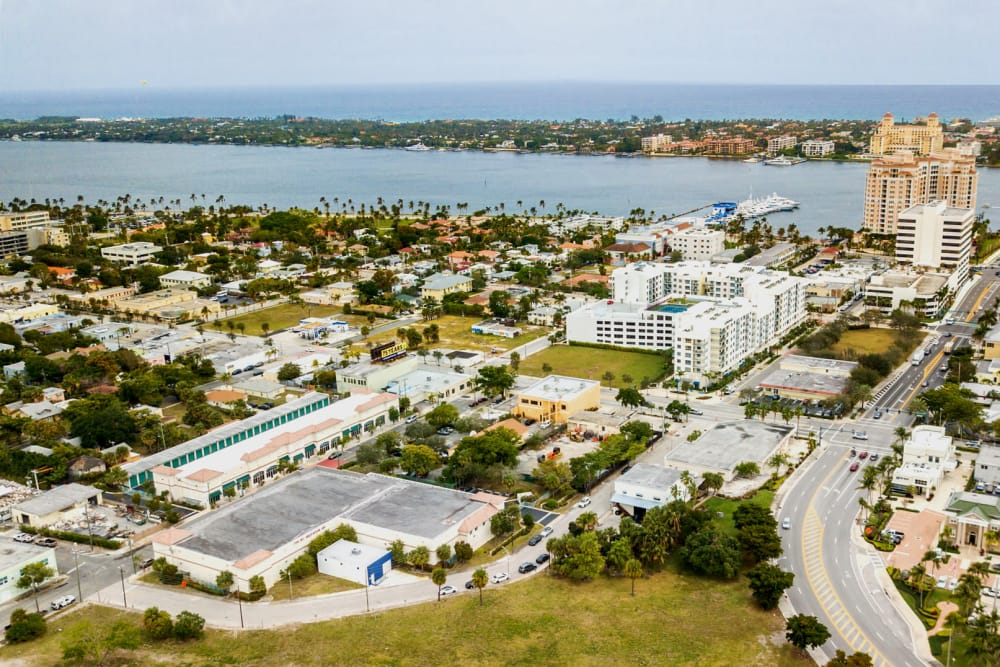 Aerial view of Prime Storage in West Palm Beach, Florida