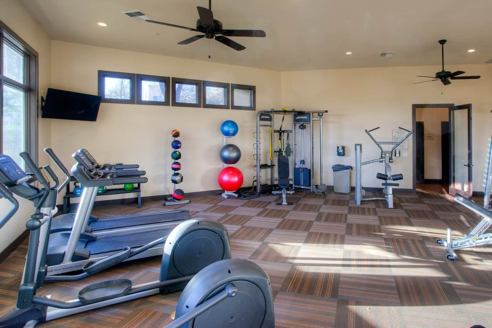 Onsite fitness center at The Reserve at Gilbert Towne Centre in Gilbert, Arizona