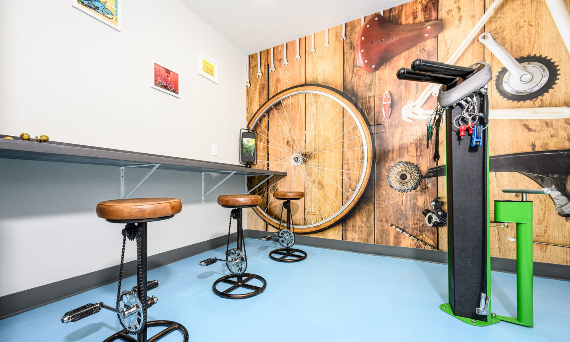 Bicycle repair center at Sendero Huntington Beach in Huntington Beach, California