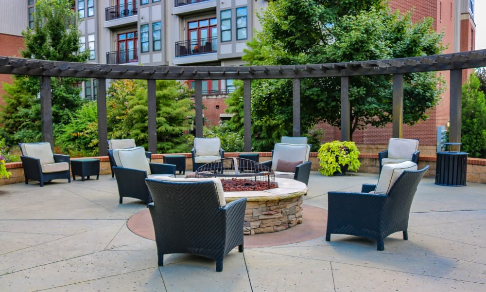 Outdoor firepit at Chapel Hill North
