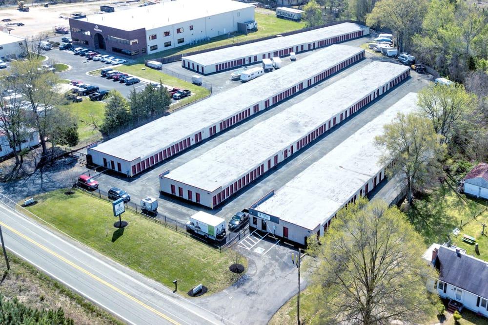 Aerial view of Prime Storage in Ashland, VA