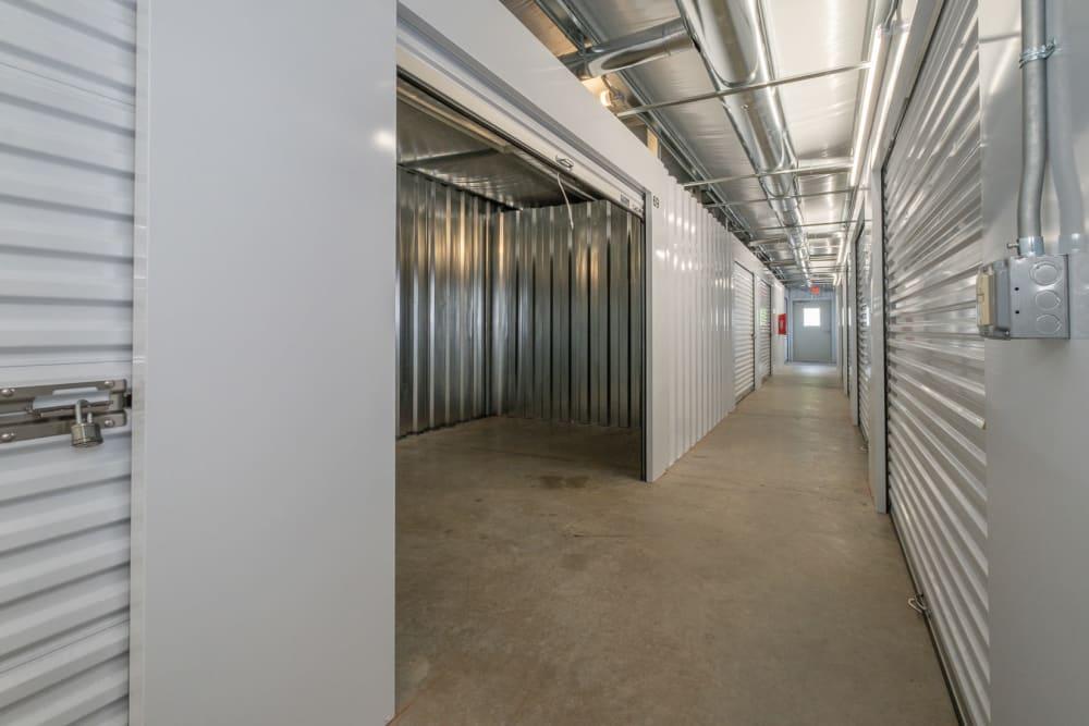 A large indoor storage unit with door open, in Salem