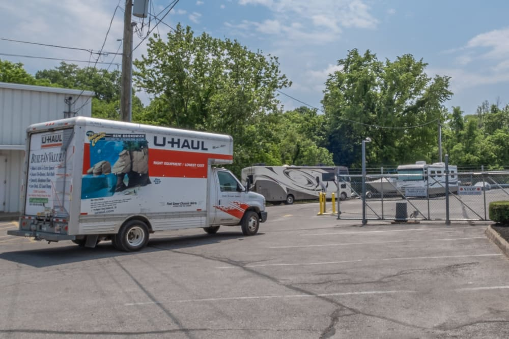 U-Haul truck and RVs at Apperson Self Storage in Salem, Virginia