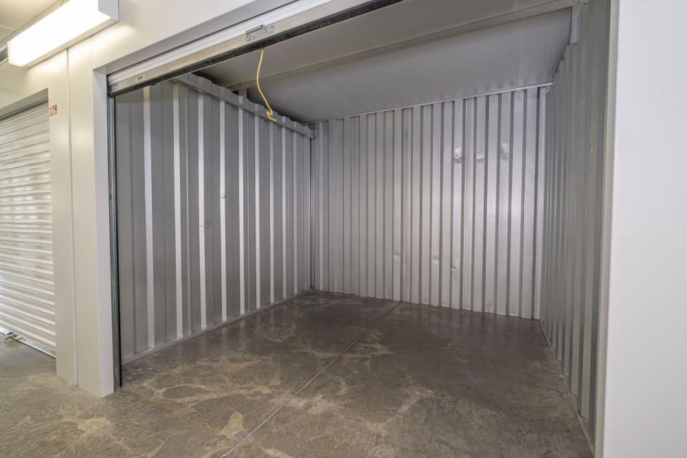 A medium-sized indoor storage unit at Apperson Self Storage 2 in Roanoke, Virginia
