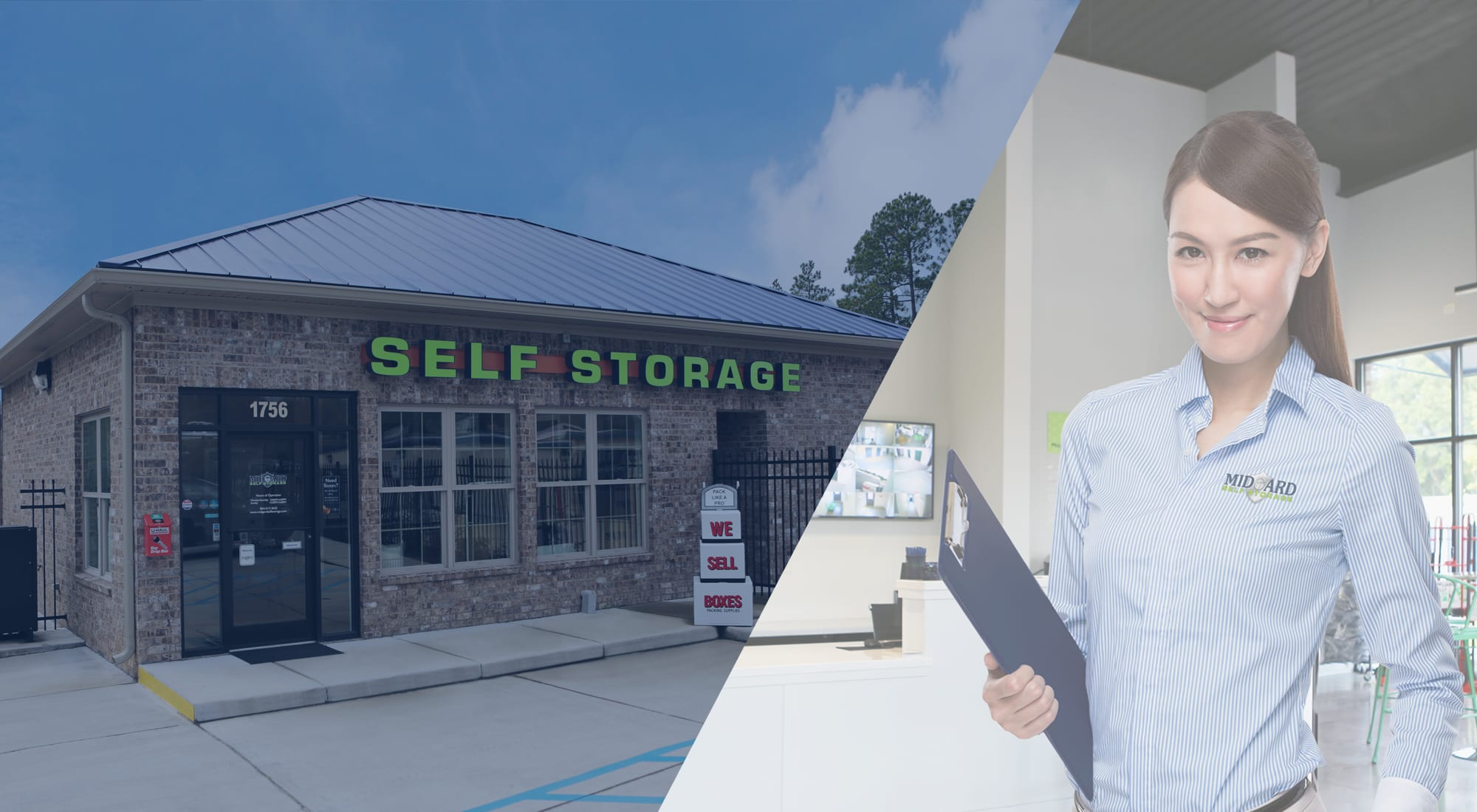 Self storage at Midgard Self Storage in Lexington, South Carolina