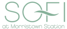 Icon version of our logo at Sofi at Morristown Station in Morristown, New Jersey