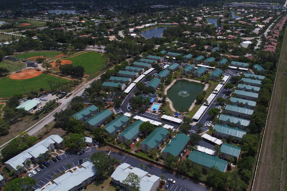 Aerial view of community at The Coast of Naples Florida