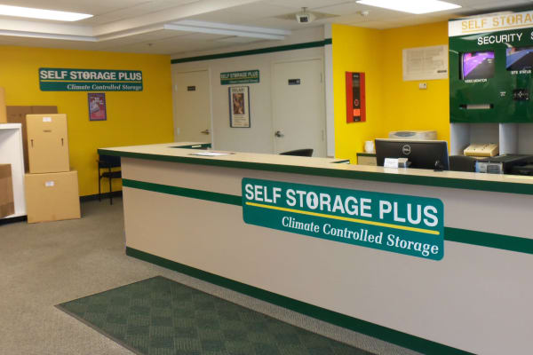 Storage boxes for sale at Self Storage Plus in Rockville, MD