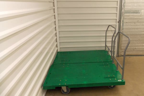 Cart available for customer use at Self Storage Plus in Arlington, VA